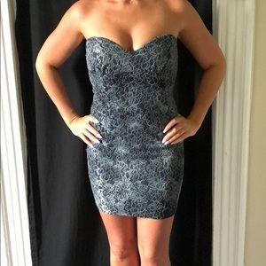 Strapless sweetheart mini dress